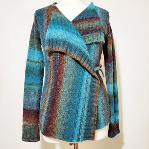 Royal Robbins Wrap Stripe Knit Sweater S